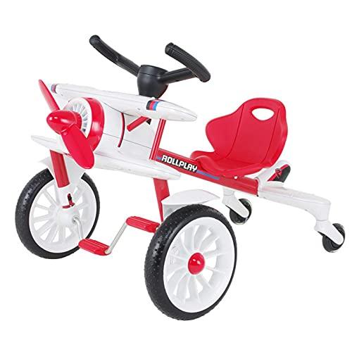 LINQ Bicicleta para niños - Kart de Cuatro Ruedas, Material de Metal, Caja Fuerte, Resistente al Desgaste y un automóvil de Juguete de avión práctico, un Regalo para niños