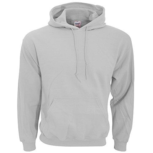 Gildan Men's Heavyweight Blend Hooded Sweatshirt, Ash Grey, Large