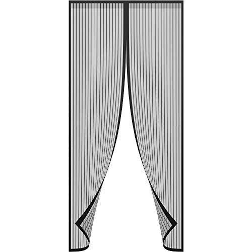 "ARVO Puerta de mosquitera mosquitera magnética, la Cortina de Malla de Malla se Adapta a Puertas de hasta 90 cm x 210 cm / 35,4""x 82,6"" (Negro)"