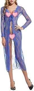 Avidlove Women's Lace Robe Lingerie Sexy Long Gown Cardigan Sheer Cover-ups Nightwear