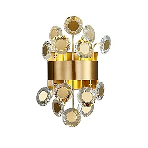 YXLMAONY Lámpara de pared LED moderna de hierro forjado de metal, pantalla de cristal, utilizada para iluminación brillante en la sala de estar, lámpara de pie con personalidad en el dormitorio y la o