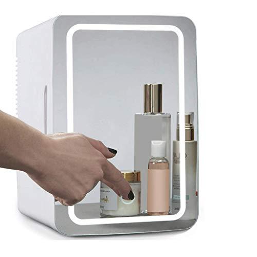 Mini Nevera Mini Refrigerador Mini maquillaje Belleza Frigorífico 8l Cosmético portátil Refrigerador de maquillaje de refrigerador con luz LED Compacto Congelador de refrigerador silencioso para mujer