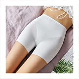 Linyuex Pantalones Cortos de Ropa Interior sin Fisuras Pantalones Cortos de Seguridad de algodón Suave Mujer Sexy Encaje Mujeres más tamaño Boyshort Bragas (Color : White 1, Size : XL)