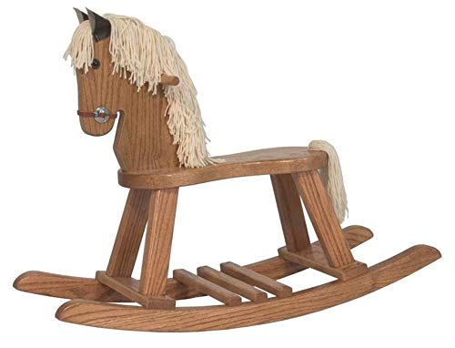 Why Choose JMX Exclusive - Amish Small Rocking Horse in Oak Wood (Black Mane, Low Sheen Varnish)