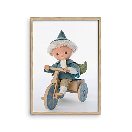 malango® A4 Poster Sandmann auf Dreirad | viele weitere Motive vom Sandmännchen und seinen Freunden erhältlich