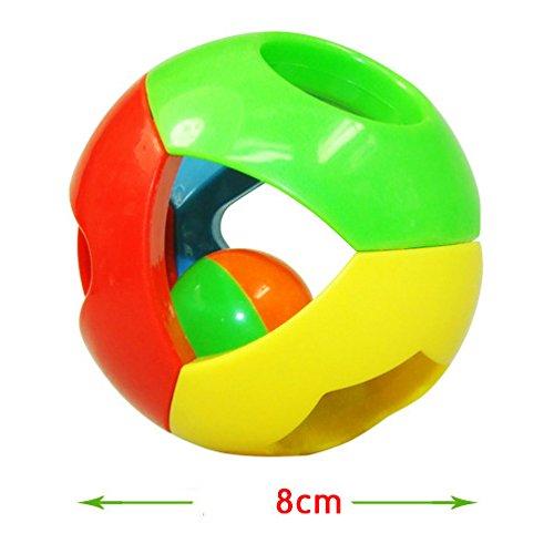 FomCcu Bebé agarrar sonajeros bola Jingle Bell para niños niños niños niños música infantil juguetes educativos