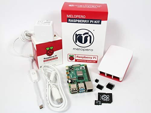 Raspberry Pi 4 Computer OFFICIAL PREMIUM KIT with MicroSD 32GB (White, 4GB RAM)