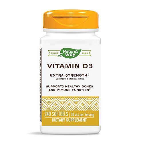 Nature's Way Vitamin D3 Extra Strength; 2000 IU per serving; 240 Softgels