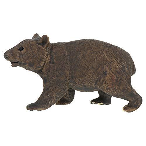 TOYANDONA Juguete Modelo Wombat Figura de Oso Realista Ajuste de Escritorio Ornamento Escultura Animal Bosque Juguete Educativo para Niños Juguete de Cumpleaños Regalo