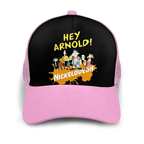 Hey Arnold Baseball Cap Men and Women Sports Adjustable Youth Ball Hat Fashion Dad Hat Pink