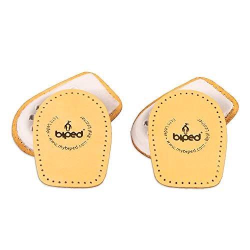 biped 2 pares de taloneras de cuero de curtido vegetal - Elevación de los talones para todos los zapatos, acolchado del talón agradablemente suave z2040(41-43)