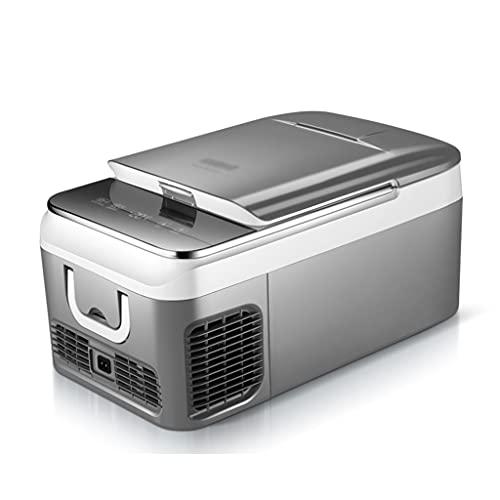 JIAX Nevera portátil Nevera para Coche Mini Nevera 12V / 220V Compresor Frigorífico Enfriamiento rápido -20 ℃, Congelador eléctrico Congelador pequeño para Turismo, Oficina, Dormitorio
