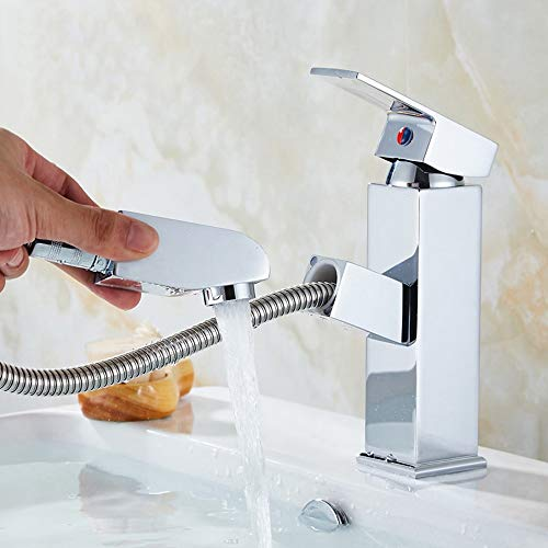 Chef Turk garrafas de Filtro Lavabo De Tipo Plateado Grifo De Agua Fría Y Caliente Grifo De Un Orificio De Cobre Lavabo De Lavabo Lavabo De Lavabo Grifo Lavable Cabeza Telescópica