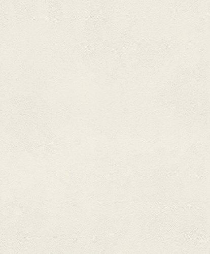 rasch Tapete 860115 aus der Kollektion b.b home passion VI – Einfarbige Vliestapete in Creme mit körniger Struktur – 10,05m x 53cm (L x B)