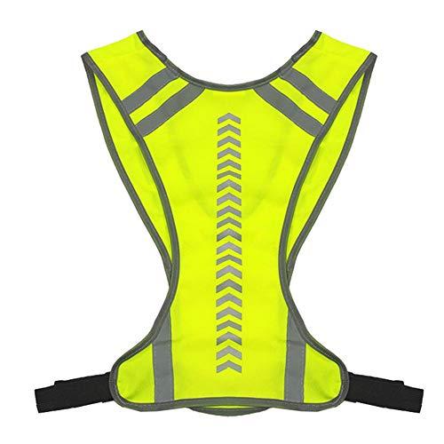 liuxi Fluoreszierende Weste, reflektierende Warnweste mit hoher Sichtbarkeit für Laufen, Wandern, Joggen, Motorrad-Nachtarbeit