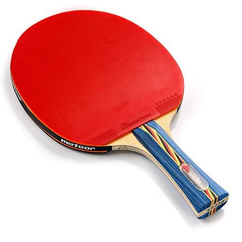 Meteor Racchetta Tennis Tavolo Ping-Pong Rachetta da Ping Pong Table Tennis Tennistavolo Ideale per Bambini Ragazzi e Adulti per Allenamento e Giochi ricreativi (6 Estrellas)