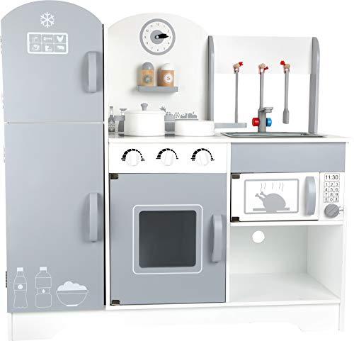 small foot 10598 barnkök Modern av trä, med kylskåp, spis, ugn, mikrovågsugn och mycket mer, från 3 år