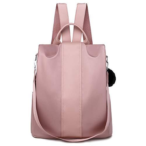 RUANRUAN Mochila Antirrobo Salvaje con Un Hombro Colgado Bolso De Doble Uso para Mujer Mochila Casual De Moda para Mujer Rosa 30 * 14 * 30 Cm