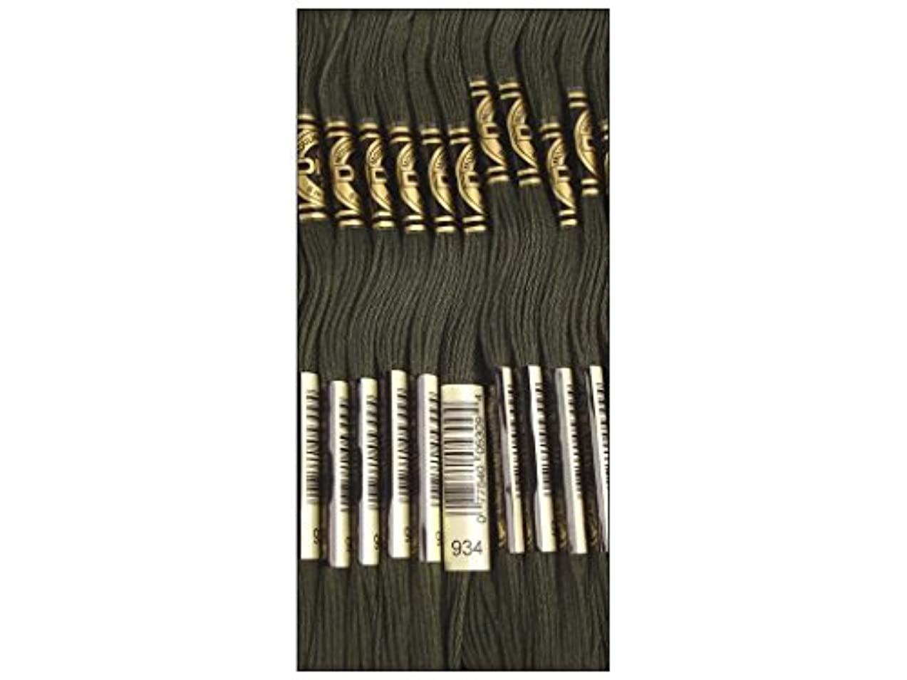 Bulk Buy: DMC Thread Six Strand Embroidery Cotton 8.7 Yards Black Avocado Green 117-934 (12-Pack) eixxnmuy976