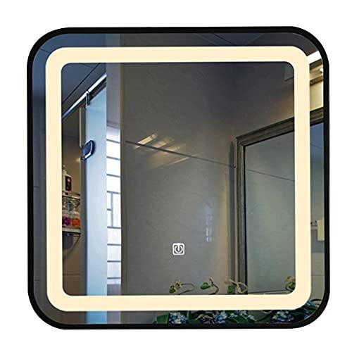 Verlichte Led-badkamerspiegel, Verlichte Spiegel Met Lichte Aanraking Waterdichte Wandgemonteerde Vierkante Ijdelheid…