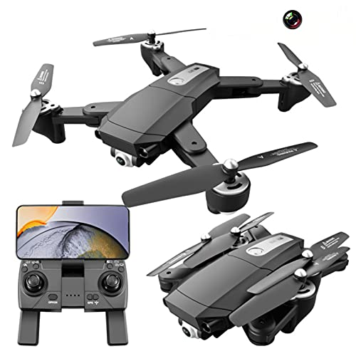 Lilon Drone Pieghevole GPS S604 PRO con Doppia Fotocamera 4K per Adulti, quadricottero FPV WiFi con Motore brushless, Drone HD 4K a Flusso Ottico, Volo 60 Minuti con 2 batterie