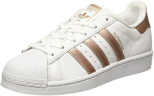 adidas Superstar W, Scarpe da Ginnastica Basse Donna, Bianco Supcol/Ftwwht, 39 1/3 EU