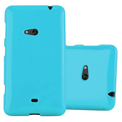 Cadorabo Hülle für Nokia Lumia 625 - Hülle in Jelly HELL BLAU – Handyhülle aus TPU Silikon im Jelly Design - Silikonhülle Schutzhülle Ultra Slim Soft Back Cover Case Bumper
