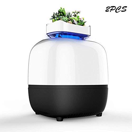 ZXL muggenlamp USB - 360 \u0026 DEG - fotokatalysator Domestische inhalator vrij van stralen LED-afstotend met houder voor bloemen (wit) voor binnen en buiten