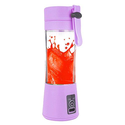 Kariwell Juice Cup, Personal Glass Smoothie Blender 380ml USB Electric Fruit Juicer Handheld