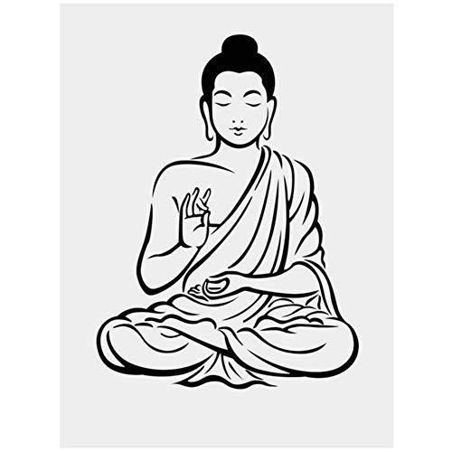 wzgsffs Religión Buda Iconos HD Lienzo Pintura Arte de la Pared Modernos Carteles Imprime Imágenes para la Sala Decoración nórdica del hogar -20X28 Pulgadas Sin Marco