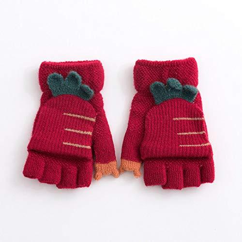 SUNHAO Gants Hiver pour Enfants en Laine tricotés avec Version coréenne