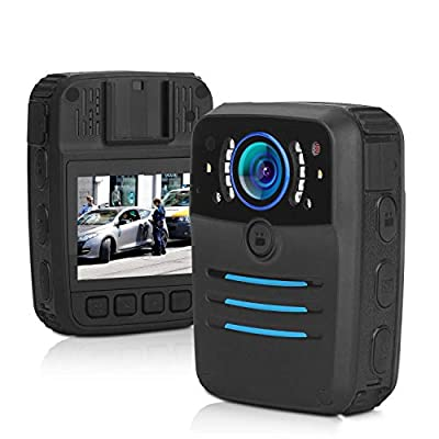 Police Body Camera Law Enforcement Records 1296P 30FPS 38MP Built-in 64GB Memory Security Guard Body Camera with Audio Recording Wearable Infrared Light for Night Vision Waterproof and Shockproof from XIYXIN