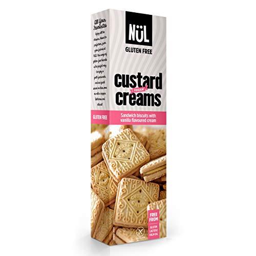 NÜL - Galletas sin gluten de custard cream con aroma de vainilla, 12 x 110 g