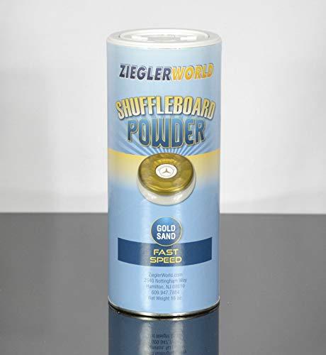 Best Buy! Zieglerworld 1 can Gold Sand Table Shuffleboard Powder Wax - Fast Speed