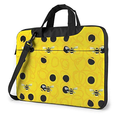 Bumble Bees Laptop Shoulder Bag 15.6 Inch Laptop Messenger Case Laptop Sleeve Carrying Case with Strap