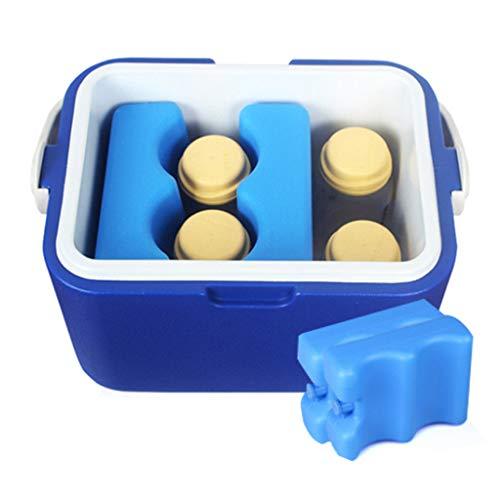 Insulin cooler Caja De Refrigerador Aislada De Doble Compartimento Refrigerador Pequeño Móvil Azul Refrigerar por 48 Horas (0-10 ℃) Manija + Diseño De La Cubierta De La Caja De La Cerradura