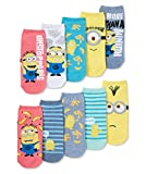 Minions Despicable Me 10 Pack No Show Socks