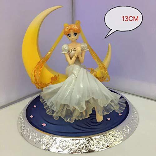 JHLong Sailor Moon Action-Figur, Mond-Göttin Anime-Charakter 13cm Souvenir Cartoon Modell Spielzeug Statue A