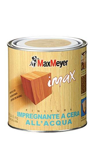 MaxMeyer Impregnante a cera all'acqua per interni ed esterni INCOLORE 0,75 L