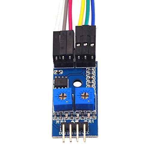 FANGCHENG Tablero Perforado Líneas Que rastrean el módulo de detección del módulo del Sensor dedicado el módulo de trazado de automóviles Inteligente 2-vía Blanco y Negro Trabajo electronico