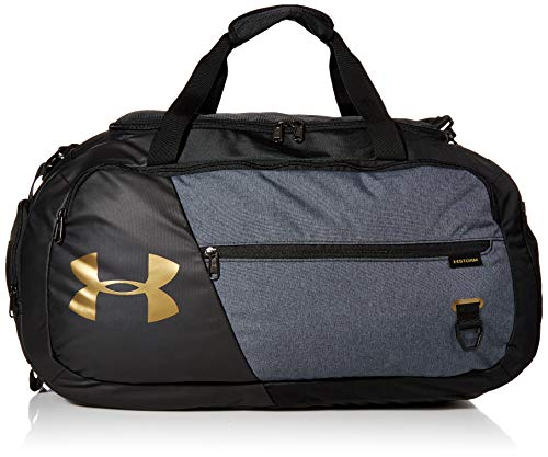 Under Armour Adult Undeniable Duffle 4.0 Gym Bag , Black (005)/Metallic Gold Luster , Medium