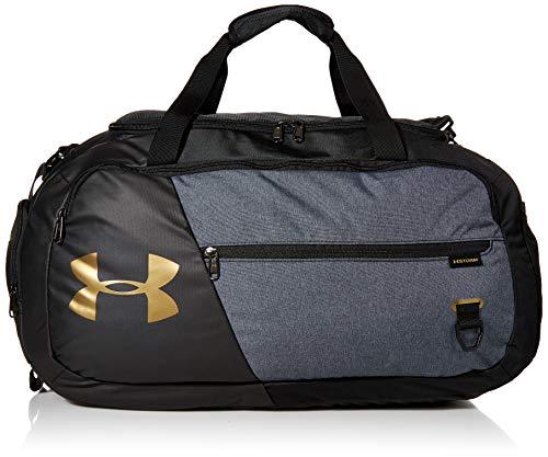 Under Armour Adult Undeniable Duffle 4.0 Gym Bag , Black (005)/Metallic Gold Luster , Medium