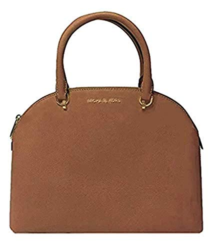 "100% Saffiano Leather with gold tone hardware Handle Drop: 4.5"" Exterior Details: Back Slip Pocket, Front Slip Pocket 1 Back Zip Pocket, 2 Back Slip Pockets, 4 Front Slip Pockets 12.5""W X 9.5""H X 5""D"