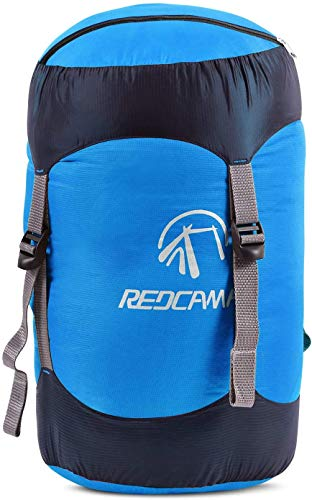 REDCAMP Nylon Compression Stuff Sack, 40L Lightweight Sleeping Bag Compression Sack Great for Backpacking, Hiking and Camping,Blue XL