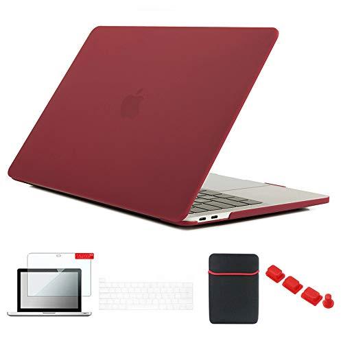 Se7enline 2016/2017/2018/2019/2020 Mac Book Pro 13.0 pulgadas funda para MacBook Pro 13.3 pulgadas modelo A2338/A2251/A2289/A1706/A1989/A2159 con funda, protector de pantalla, tapón antipolvo