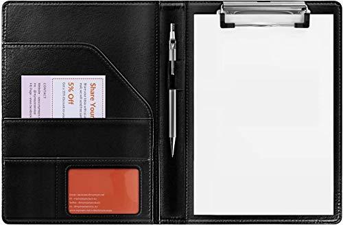 クリップボードフォルダ A5会議パッド デスクパッド (黒色)