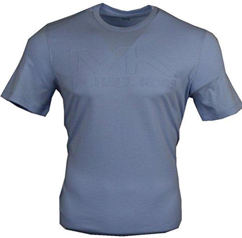 Michael Kors Camiseta de cuello redondo, color azul claro azul claro S