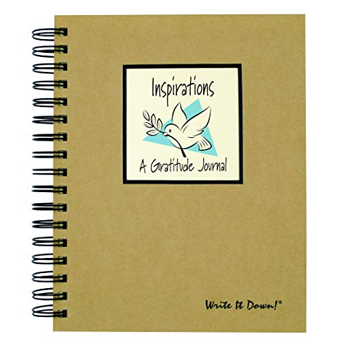 Inspirations, A Gratitude Journal - Kraft Hard Cover (prompts on every page, recycled paper, read more...)