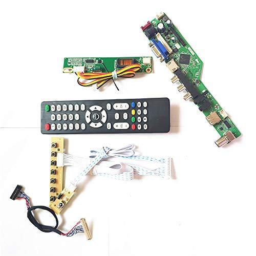 Para LP154WX4-TLA1/TLA2 HDMI VGA USB AV RF teclado+Remote+Inversor T.V53 tarjeta de unidad panel LCD monitor LVDS 1CCFL 30Pin Kit (LP154WX4-TLA1)