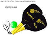 Beach Art Pro, Set Raquettes Pickle Tennis Mixte Adulte, Noir, 40x 20x 1cm
